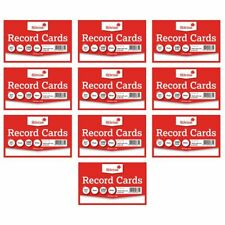 Silvine Record Revision Guide Index Flash Cards - White/Coloured - Plain/Lined