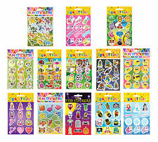 Kids Birthday Party Themed Sticker Sheets Loot Bag Fillers Favours Prizes