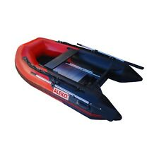 ALEKO Red and Black Color Inflatable Pontoon Boat With Aluminum Floor 8Ft 4Inch