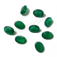 Natural Indian Green Onyx AA Quality  Faceted Oval Shape Loose gemstones