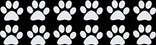 Dog Paw Print Vinyl Die-Cut Decal Sticker for Car, Laptop,Window, Wall, 12-pack