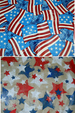 Patriotic Americana Tablecloth Flags Red White Blue Picnic BBQ Round Oblong New
