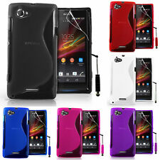 Cases for Sony Xperia L S36h TPU Silicone Flip Case Cover Case