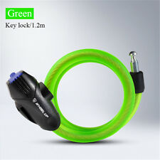 1.2M1.8M Wire Spiral Coiled Cable Lock Anti Theft Cycling Lock Bike Security-HOT