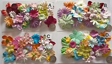 SCRAPBOOKING NO 423 - 18 PRIMA PAPER FLOWERS - 4 DIFFERENT PACKS AVAILABLE