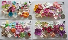 SCRAPBOOKING NO 436 - 18 PRIMA PAPER FLOWERS - 4 DIFFERENT PACKS AVAILABLE