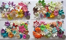 SCRAPBOOKING NO 442 - 18 PRIMA PAPER FLOWERS - 4 DIFFERENT PACKS AVAILABLE