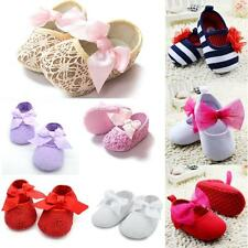 Newborn Baby Girl Lovely Shoes Soft Sole Crib Prewalker Toddler Anti-Slip  Shoes