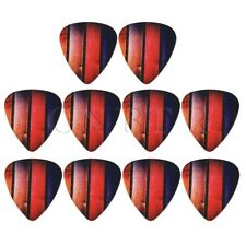 10Pieces 0.46mm Smooth Guitar Pick for Electric Acoustic Guitar Colorful