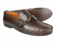 Red Tape Woodcroft Brown Leather Loafers Driving Shoes