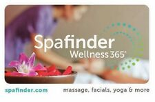 $50 Spa Finder Gift Card Use for Yoga, Facials, Massage, Pedicures and More