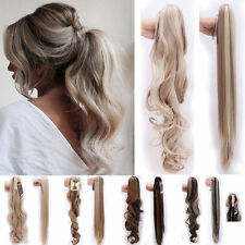 Clip in Hair Extension Claw Pony tail clip on Extensions 100% Thick Hairpiece US