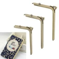 Smooth Face Bronze Square Purse Metal Frame Kiss Clasp Bag Making Frame