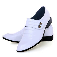 Men's Wedding Slip-On Leather Loafers Dress Formal Business Casual Shoes