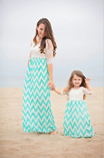Family Style Mother and Daughter Matching Boho Beach Dresses Evening Party Dress