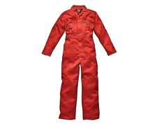 Dickies Overalls WD4839 Mens/Adult Redhawk Zip Front Work Overalls ORANGE W46R