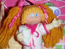 Cabbage Patch Kids Miniature Doll CPK 1985 Vintage Long Blonde Hair Nightgown