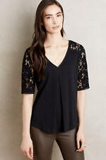 NIP Anthropologie Brushed Lace Tee by Meadow Rue Sz M