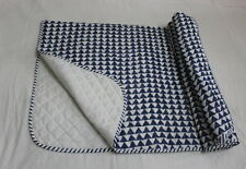Ble Color Hand Block Print Ac Quilts Cotton Dohar Twin Size Blanket Throw indian
