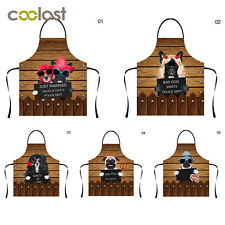 Polyester Cotton Apron Women Chefs Kitchen Restaurant Cooking Aprons Funny Dog