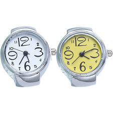 Women's Big Numbers Mini Finger Ring Watch Elastic Band Quartz Watch Happy