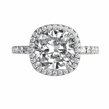 Diamond Ring 14K White Gold 1.5 CT F VS1 1 Micro Pave Natural Micro Pave Ring