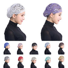 Muslim Islamic Lace Under Scarf Hijab Bonnet Cap Headwear Inner Hat Headwrap