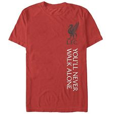 OFFICIALLY LICENSED LIVERPOOL ADULT T-SHIRT RED YOU'LL NEVER WALK  ALONE SM-XXL