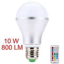 Energy Saving E27 RGB 10W LED Bulb Colors Dimmable Light Lamp IR Remote Control
