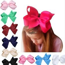 New Alligator Clips Girls Large Bow Ribbon Kids Accessories Hair Clip HYFG01