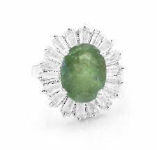 Sterling Silver Ring with Green Tourmaline Natural Oval Cut Gemstones eBay