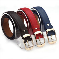 Women Ladies Faux Leather Belts Metal Straps Girls Buckle Mujer Fashion Trends