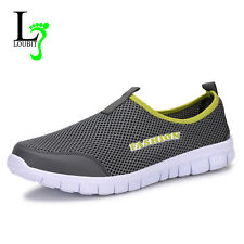 Summer Shoes Mesh Light Breathable Casual Slip Loafers Rubber Canvas Sneakers