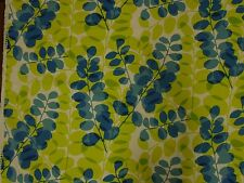 Scion Melinki One Lunaria Leaves Lime 100% Cotton Curtain & Upholstery Fabric