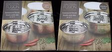 Stainless Steel Food Storage Mixing Hammered Bowls Containers With Lids Set of 3