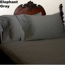 1000TC/1200TC 100%EGYPTIAN COTTON US SIZES ALL BEDDING ITEM ELEPHANT GREY STRIPE