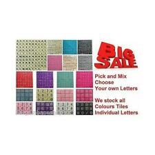 WOODEN LETTERS SCRABBLE TILES black letters - PICK AND MIX FROM 3-1000