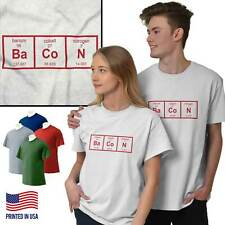 Science Nerd Bacon Funny T Shirt Tee Periodic Table Geek Food T-Shirt Top