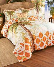 New Tropical Palm Tree Moroccan Beach House Comforter Shams Pillow & or Curtains