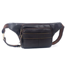 New Men Genuine Leather Cowhide Waist pack Fanny bag  sling Chest Bag wallet