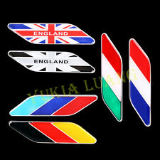 2Pcs National Flag Badge Car Emblem Stickers for Germany Italy England France US