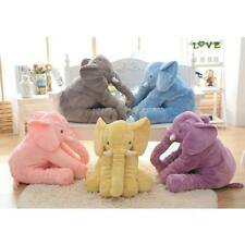 L40xH35cm Lovely Elephant Shape Baby Kids Plush Pillow Stuffed Doll Toy for Kids
