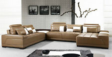 Fabric/Leather 6 Seater Corner Modular Lounges with Chaise Sofas Couches
