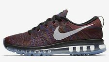 Nike FLYKNIT AIR MAX MEN'S RUNNING SHOES,BLACK/BLUE/RED/WHITE- US 10, 11.5 Or 12