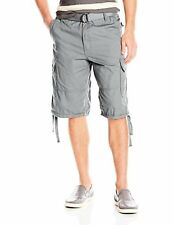 Southpole Men's Belted Shorts W/ Cargo Pockets In Basic Color and Twill Fabric