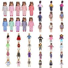 18inch Dolls Dresses/Pajamas/Schoolbag for American Girl Our Generation Doll