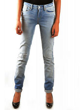 NWT MARC JACOBS  Women's Blue Distressed Whisker Wash Skinny Jeans 27 28 $188