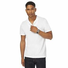 J By Jasper Conran Mens White Textured Polo Shirt From Debenhams