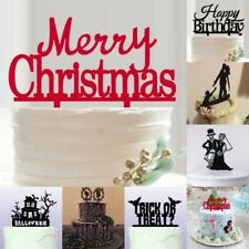 Exquisite Birthday/ Wedding/ Halloween/Christmas Party Cake Plug-in Decorations