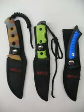 NEW Assorted M-TECH Fixed Blade Survival Tactical Rescue Emergency Knives Knife